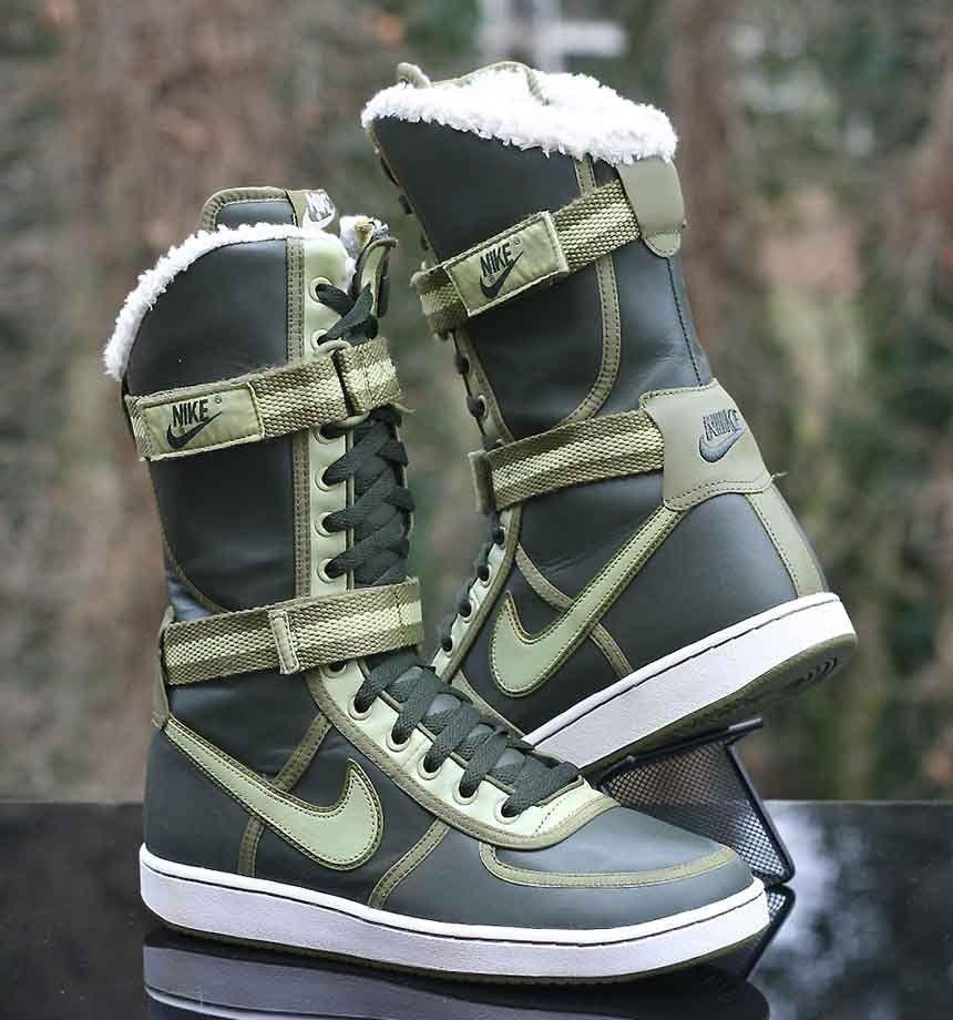 e4d707442683b Nike Women s Vandal Venti Dark Army Green 20-inch Sneaker Boot 316939-331 Sz  9.5  Nike  MidCalfBoots