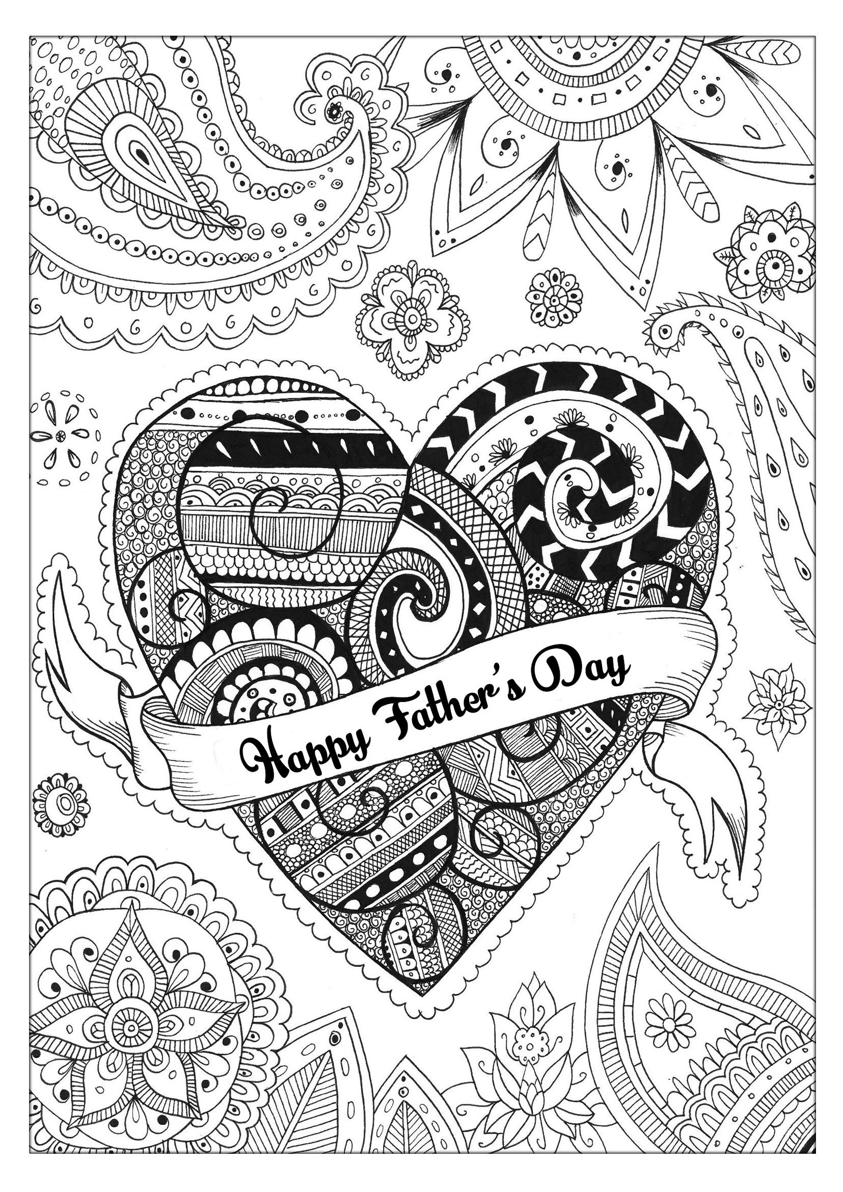 Here Is A Special Coloring Page Of Rachel For The Fathers Day She Has Good Zentangle Style From Gallery Events