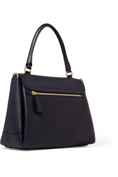 Anya Hindmarch - Bathurst Small Leather Shoulder Bag - Navy