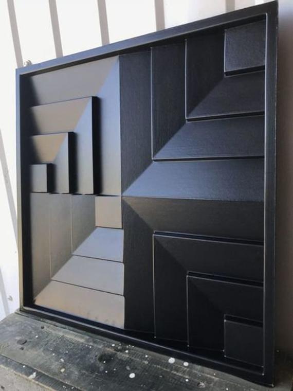 Molde de plástico para yeso y hormigón 3D Panel Forma para h…