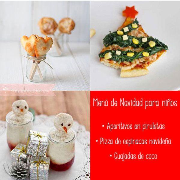 5 Menús De Navidad Para Niños Pequerecetas Navidad Niños Recetas Para Nochebuena Aperitivos De Navidad