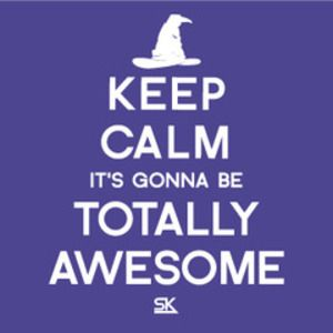 Keep Calm, It's Gonna Be Totally Awesome T-Shirt: Could you find a more quintessential Starkid t-shirt (Hufflepuffs, we're looking at you)? #AVPM #totallyawesome #starkid