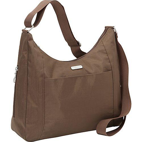 baggallini Companion Hobo - EXCLUSIVE Mushroom/Caspian Blue - baggallini Fabric Handbags