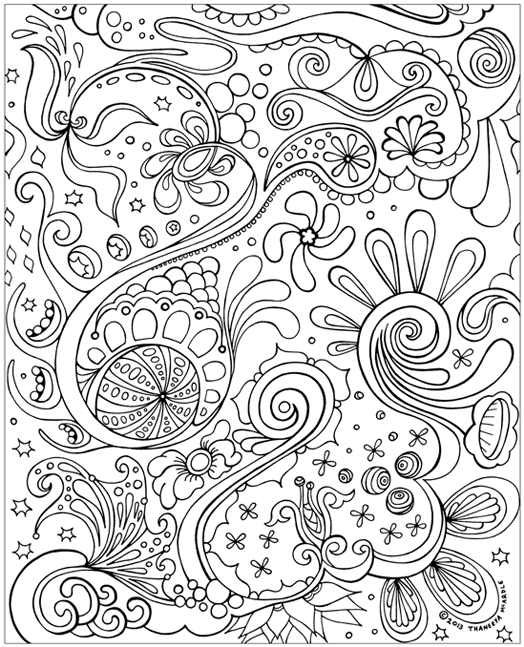 1 Un Colored Print Abstract Plus Coloring Pages Adult