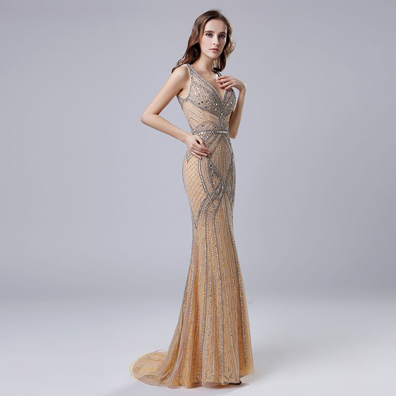 c432d1db 2019 Mermaid V-Neck Simple Sequins Long Evening Dresses Item Code: cps409 |  Winter outfits | Formal dresses, Evening dresses, Prom dresses