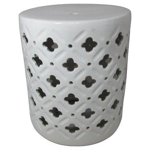 Ceramic Accent Table Cream Clover Threshold Balconies Porch