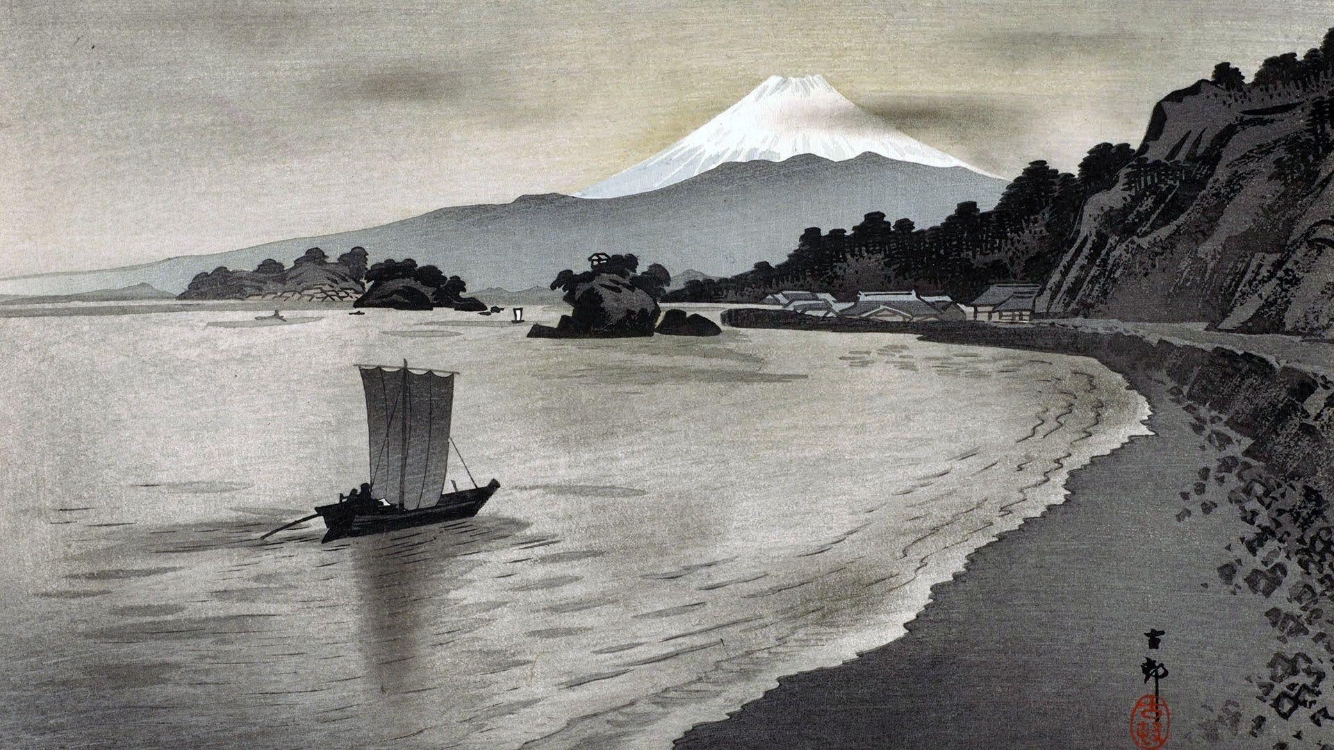 小原古邨 / 西伊豆の帆掛け舟 Ohara Koson – 1920×1080 – 壁紙 ...