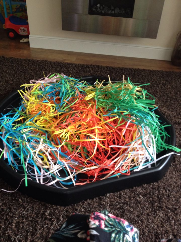 Multi Coloured Shredded Paper Tuff Spot Ideas