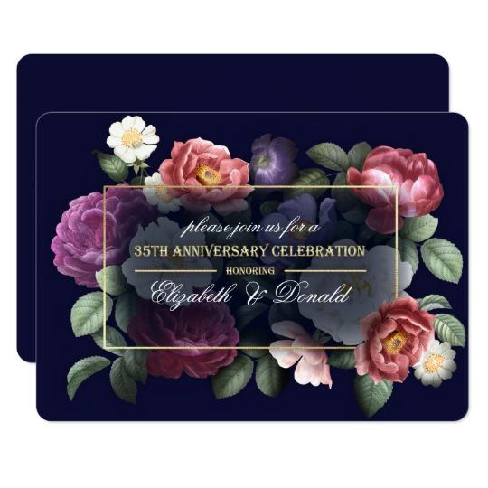 35th Wedding Anniversary Party Invitations Zazzle Com Anniversary Party Invitations 60th Wedding Anniversary Party Wedding Anniversary Party