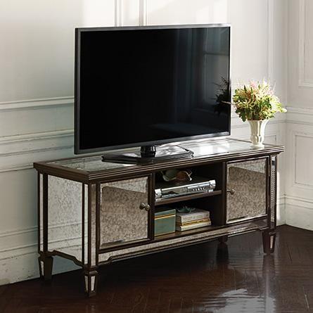 Isla Mirrored Tv Console Arhaus Home Decor Mirror Tv Room Set