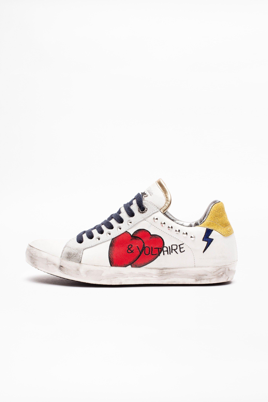 Los colores bonitos Piel , cuero Zapatos Deportivas altas
