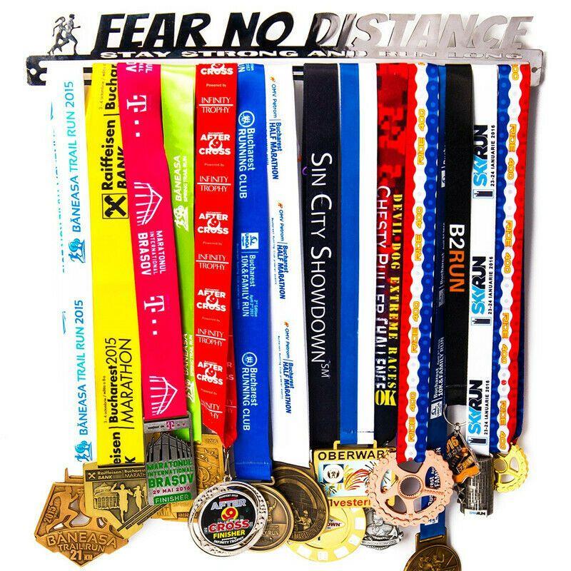 Fear No Distance Sports Medal Holder Medal Display Medal Rack Runner Gift