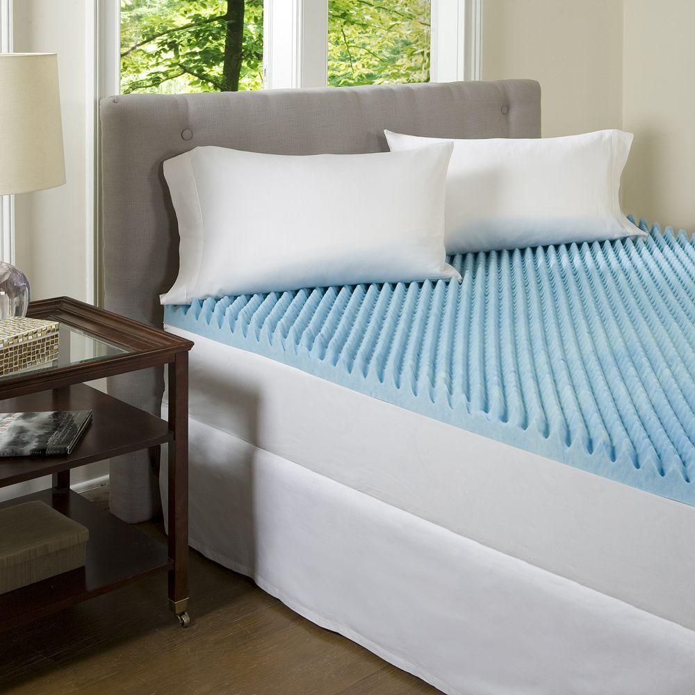 Comforpedic Beautyrest 3 Inch Textured Gel Memory Foam Mattress