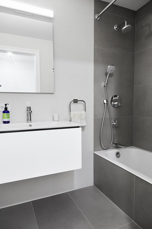 Neutral, Modern Bathroom Facelift