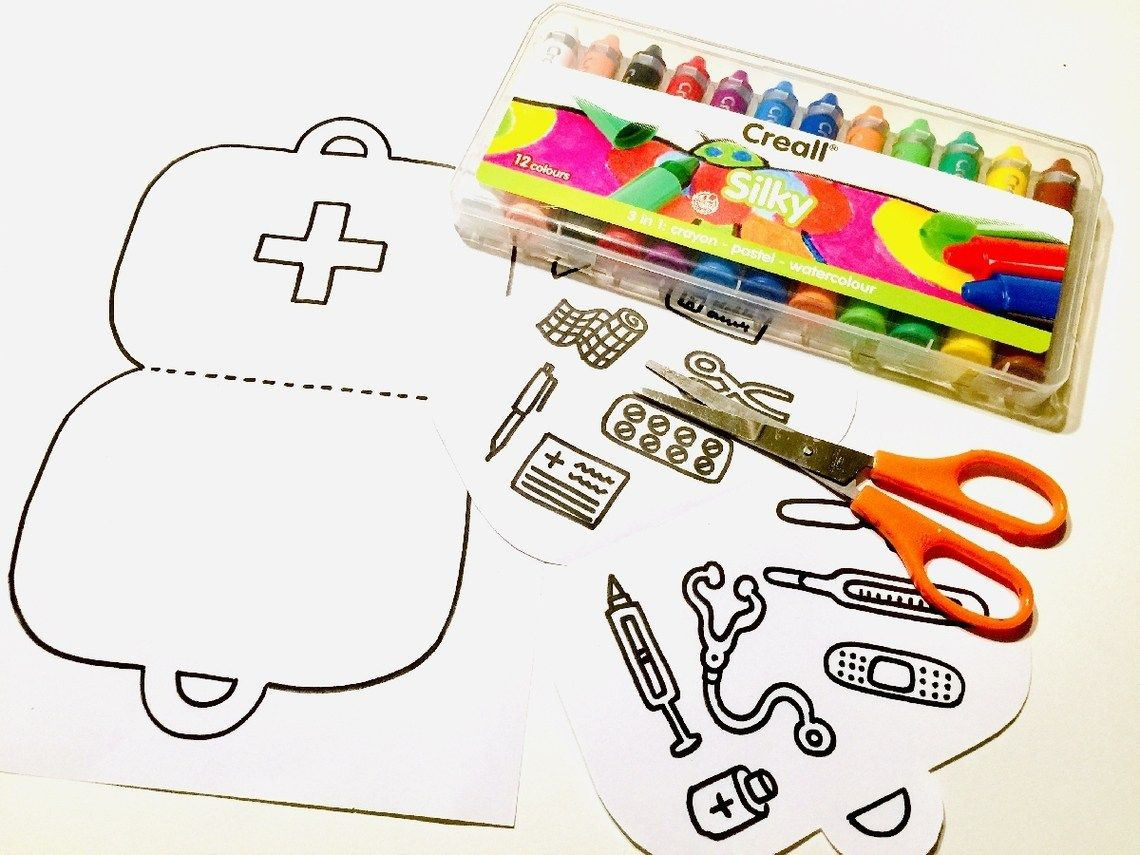 Dokterskoffertje Knutselen Met Peuters Met Ziek Knutselen Creatief Gezondheid K Knutselen Thema Ziek Zijn Voorschoolse Activiteiten Peuter Thema