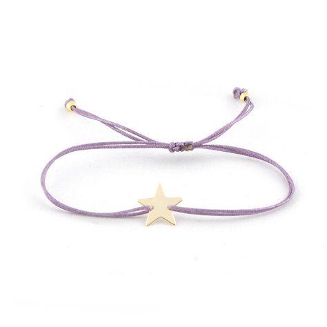 3d300f444942 Pulsera con placa de plata 925 en forma de estrella (1