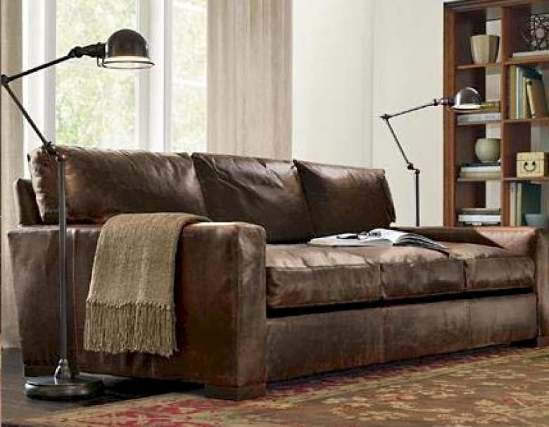 Napa Maxwell Oversized Seating Leather Sofa Amp Set