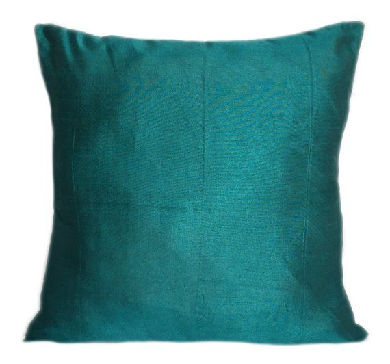 Set Of 40 Solid Teal Pillow Cover Plain Teal Pillow Solid Teal Beauteous Plain Decorative Pillows