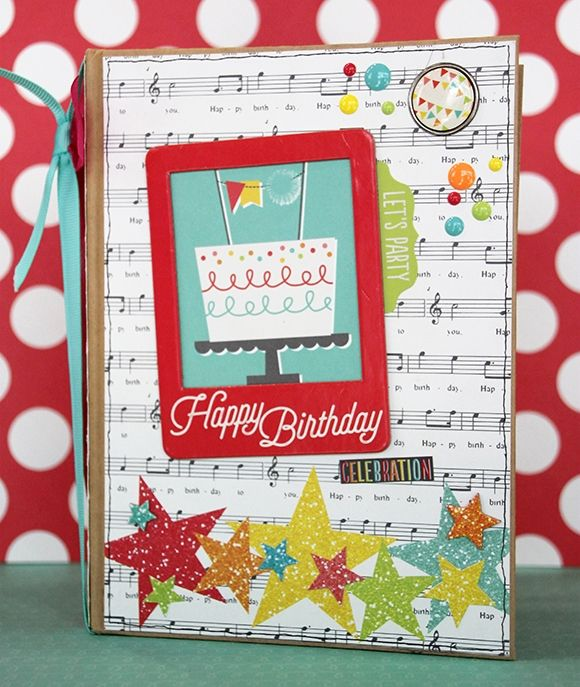 Lets Party Birthday Reminder Mini Book Simple Stories – Birthday Card Reminder Book