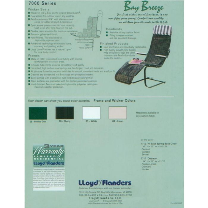 Lloyd Flanders Wicker Furniture Bay Breeze Discontinued Collection