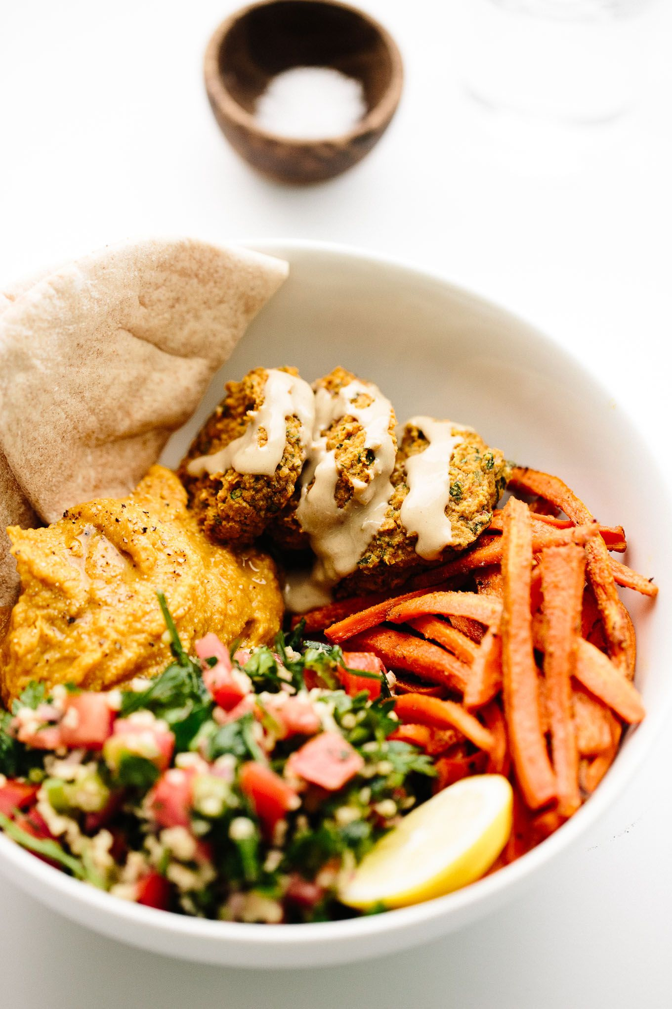 Vegan Fully Loaded Fall Falafel Bowls