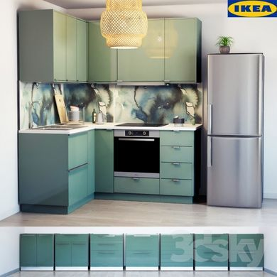 3d models kitchen ikea kitchen kallarp kitchens en 2019 meuble cuisine cuisine verte et - Cuisines ikea 3d ...