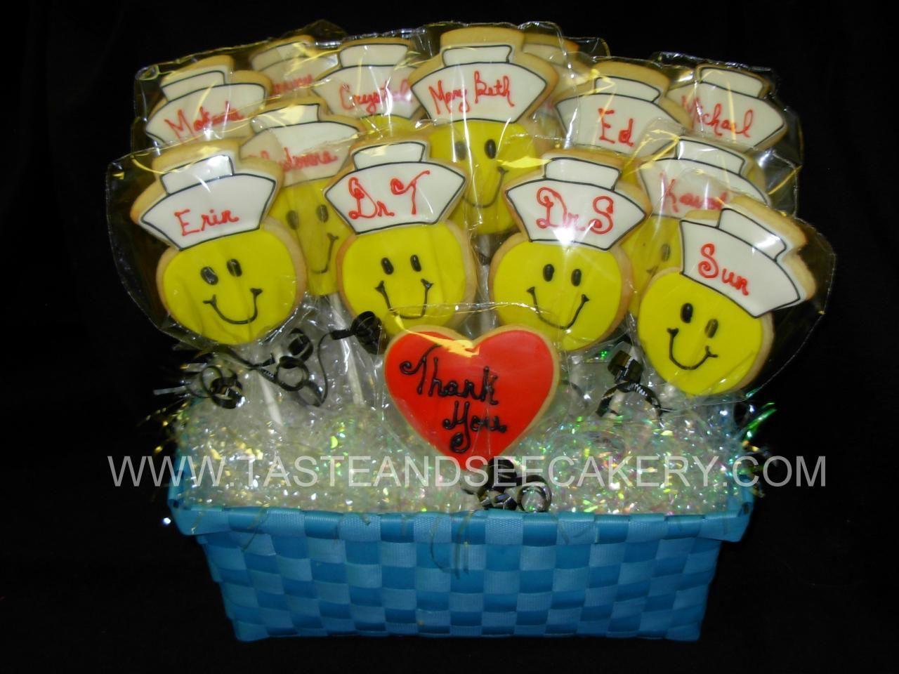 Nurse Cookie Bouquet   Sugar cookie ideas   Pinterest   Nurse ...