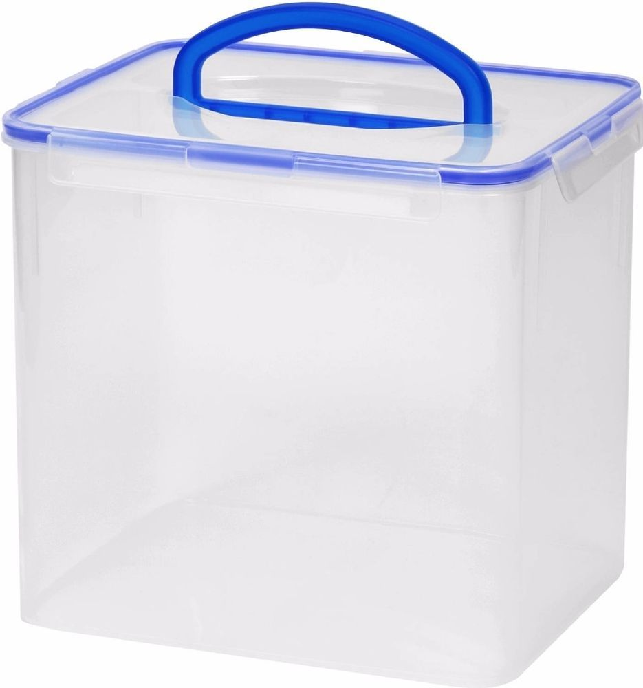 Stackable Clear Food Plastic Storage Container With Handle Lid Space