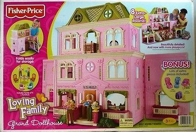 NEW Fisher Price Loving Family Grand Doll house PLUS Dolls & Furniture BNIB