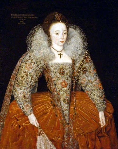 jeannepompadour:Lady Eleanor Percy, Lady Powis, aged 13 by British (English) School, 1595