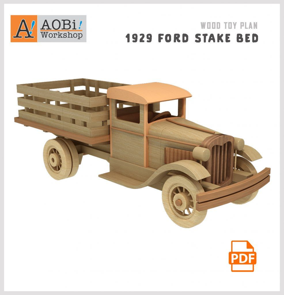 1929 Ford Stake Bed Plan Set Bed Plans Wooden Toys Plans Wood
