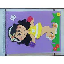 Resultado de imagem para caderno decorado com eva