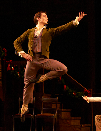 Clara's dancing partner at the party in Act 1 of the Royal Ballet's The Nutcracker. Photo by Alice Pennefather