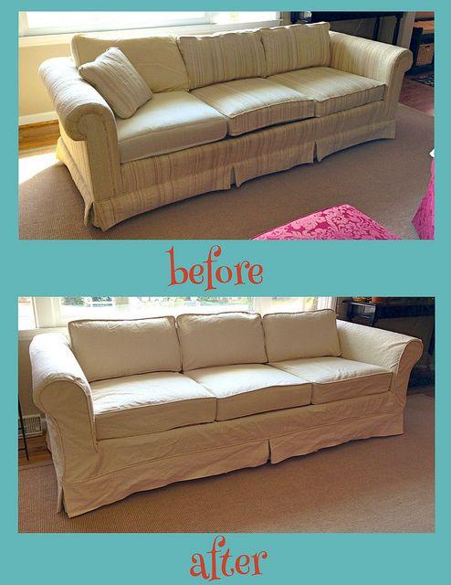 My latest Sofa Slipcover by Kristi-The Slipcover Girl, via pinkandpolkadot.net #slipcovers #diy