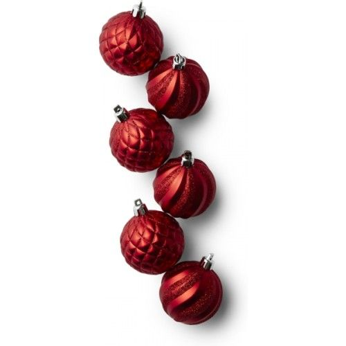 Ornament mix red