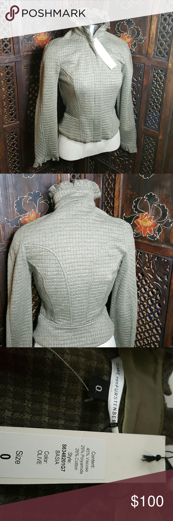 Selling this Gorgeous Diane Von Furstenberg Statement jacket on Poshmark! My username is: michelad. #shopmycloset #poshmark #fashion #shopping #style #forsale #Diane von Furstenberg #Jackets & Blazers