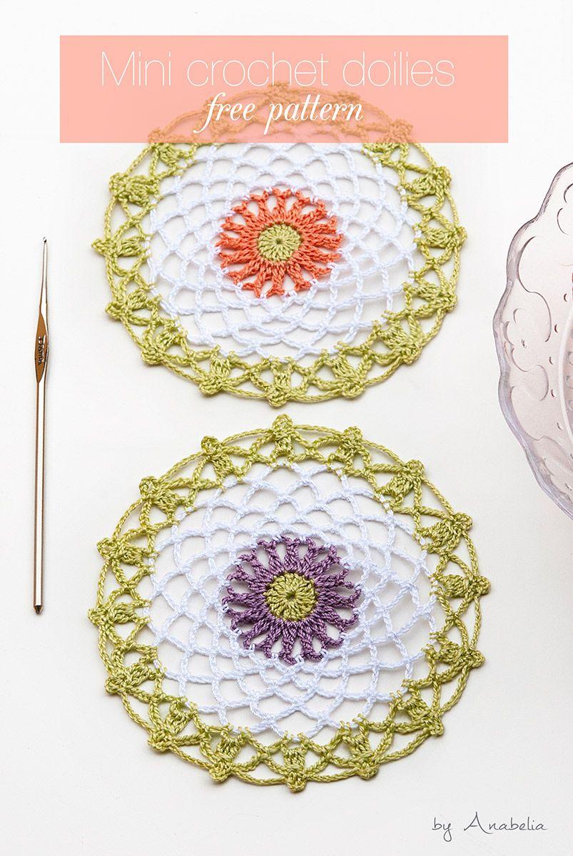 Mini crochet doilies free pattern, Anabelia Craft Design   DIY ...
