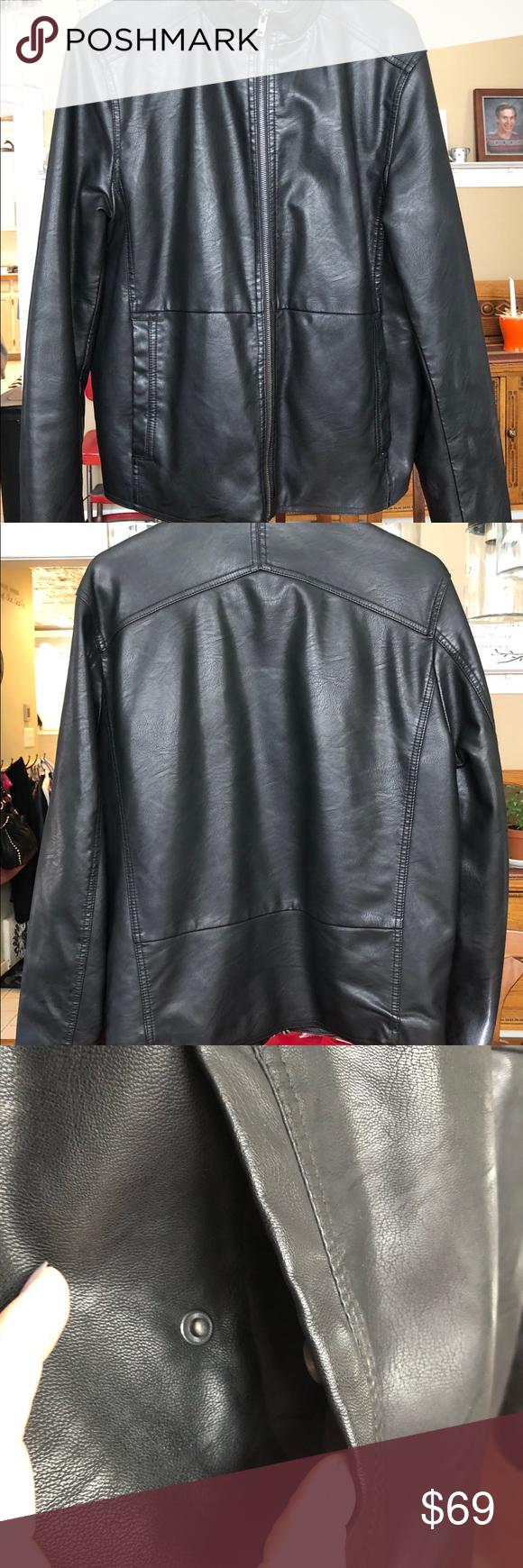 Liz Claiborne Faux Leather Black Quilted Coat Quilted Coat Liz Claiborne Faux Leather Jackets