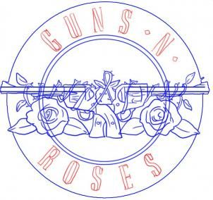 Guns N Roses Lyrics and Logos Music Rock GNR Badge Pack Pin Badges