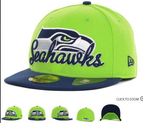 NFL Script Down 59FIFTY Cap Seattle Seahawks Fitted Hats 004  537aa2962