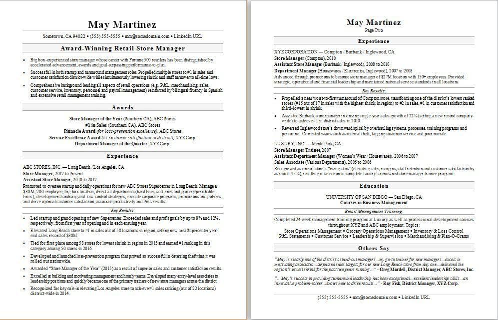 77 Inspiring Stock Of Sample Resume For Jewelry Manager Resume Examples Business Resume Manager Resume