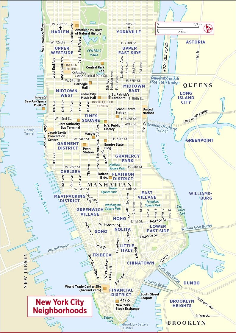 NYC Map New York City Map Map Of New York City  Best Images - Nyc map by area