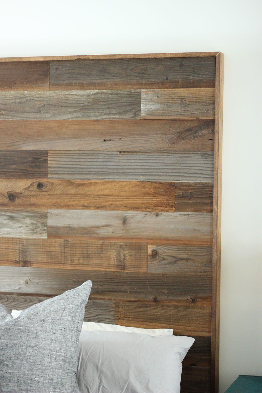 How to make a DIY Wooden Headboard Rustic wooden