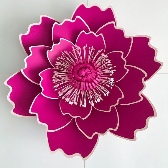 Paper Flowers Svg Petal 7 Paper Flower Template With Base