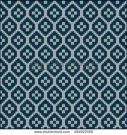 Photo of Bilder, Stockfotos und Vektorgrafiken Ornamental Pattern for Knitting and Embroidery