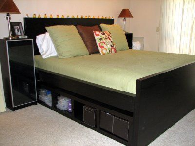 IKEA Malm \'hack\'... for my full mattress and box spring I built the ...