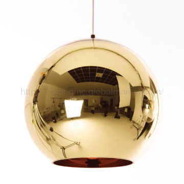 Design Within Reach Modern Gold Tom Dixon Mirror Glass Pendant Lights Copper Pendant Lights Glass Ball Pendant Lighting Copper Shade Light