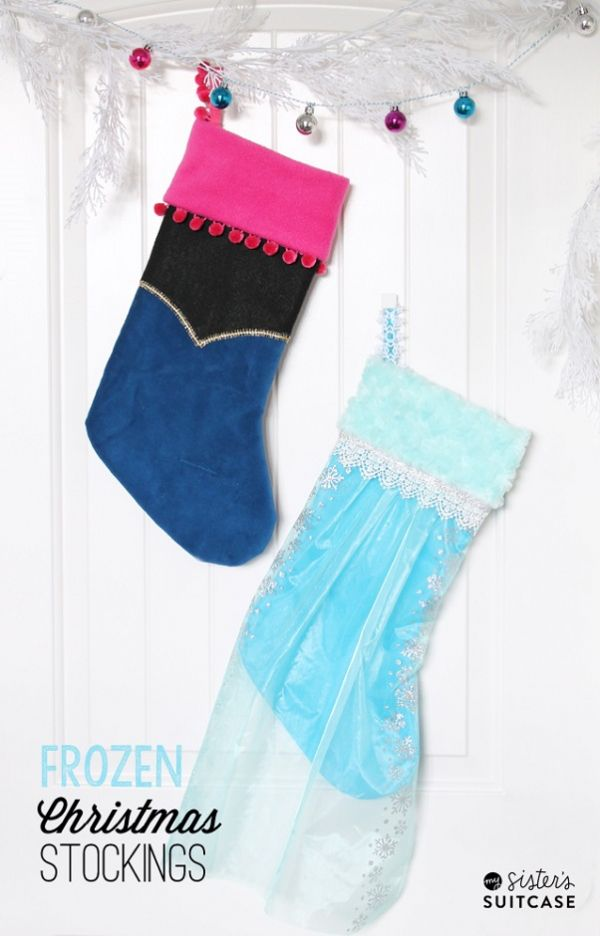 Tutorial: No-sew Frozen princess Christmas stockings | Nähen