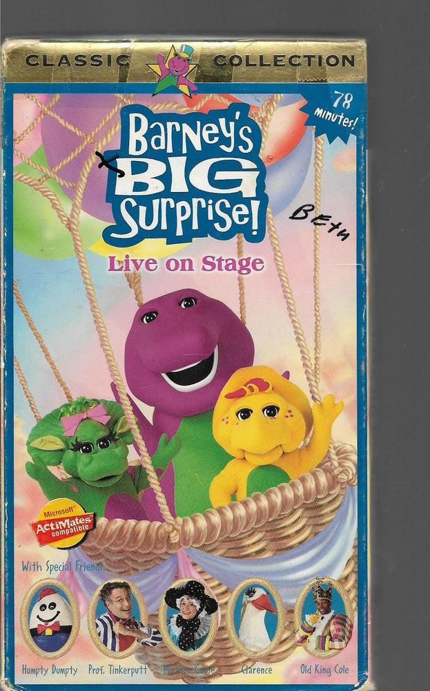 Barney S Big Surprise Live On Stage Vhs Books Amp Stuff