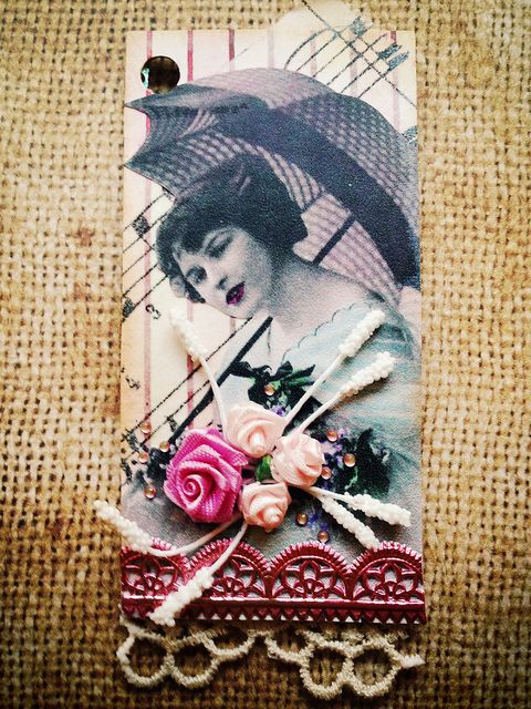Binder Trading Card - Lady (front) | by Donetta's Beaded Treasures